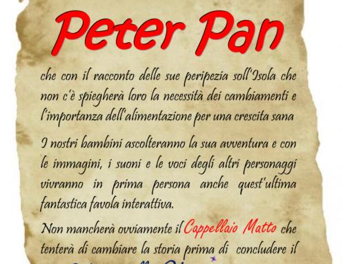 AVVISO: Incontro con Peter Pan – 21 MAGGIO 2018