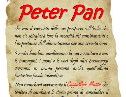 AVVISO: Incontro con Peter Pan – 22 MAGGIO 2018