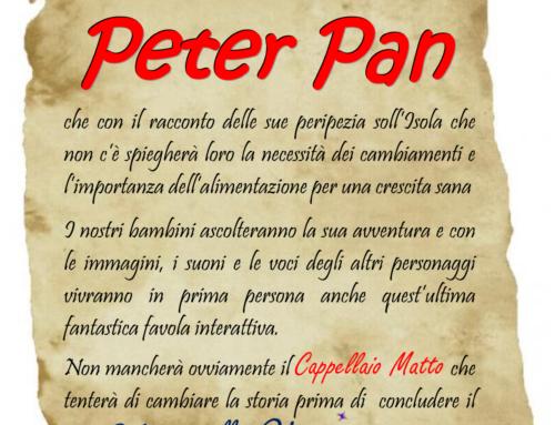 AVVISO: Incontro con Peter Pan – 23 MAGGIO 2018