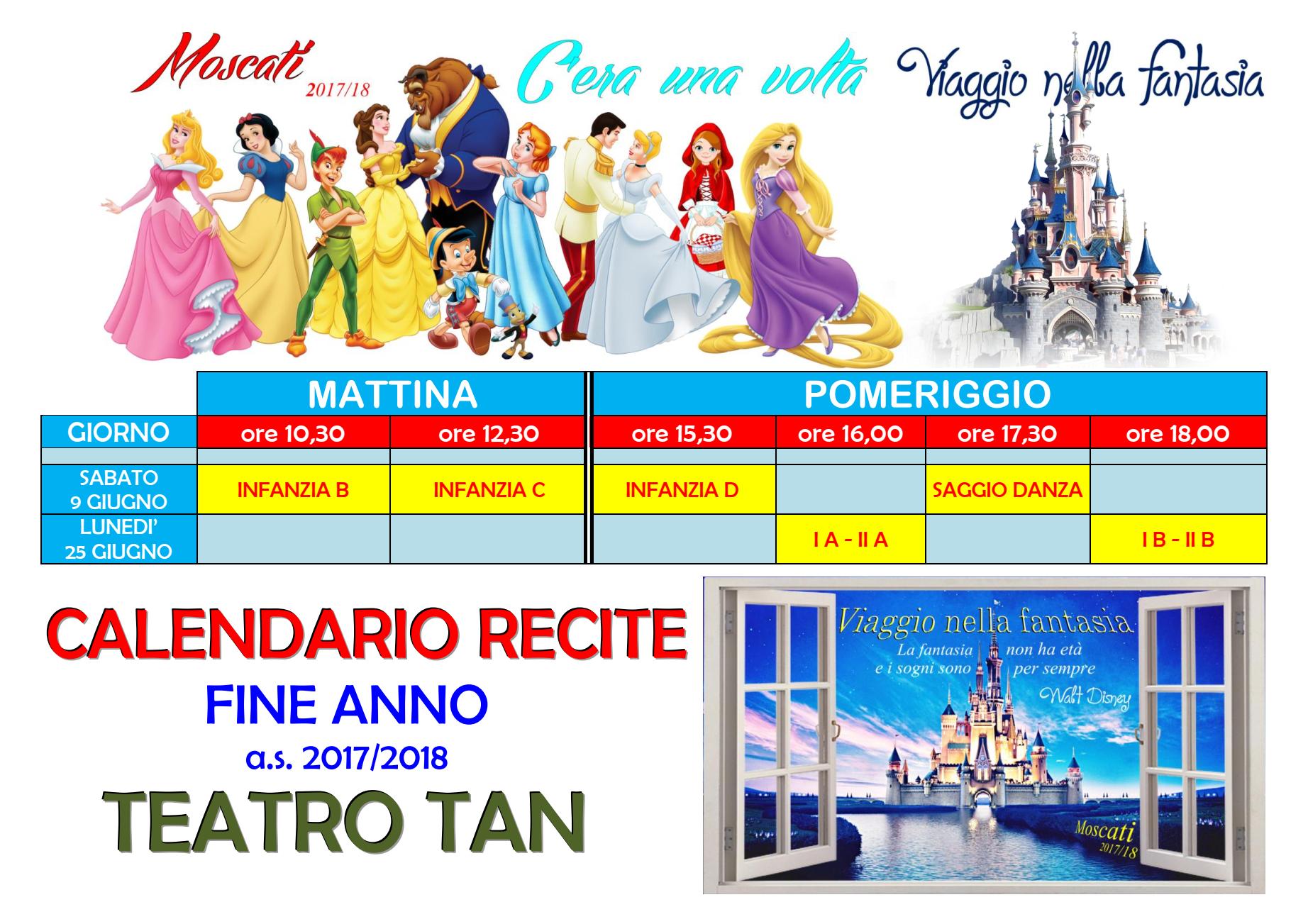 Calendario Anno 2017.Avviso Calendario Recite Di Fine Anno 2017 2018 Scuola